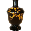 Nice Old Japanese Lacquered Sake bottle ~ Maki-e Gold lacquer Prunus Tree
