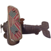 Tin Bi-Plane Penny Toy with American Flag Wing Decoration