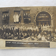 Real Photo Postcard University Of Pittsburgh Pharmacy Dept. Class of 1912