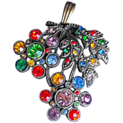 Little Nemo Marked Large Multi-color Rhinestone Pendant