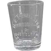 Neligh, Nebraska Druggist Medicine Glass Dose Cup