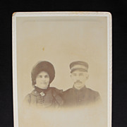 Cabinet Card Photograph - Salvation Army Couple - Hutchinson, Kansas