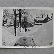 Pair Real Photo Postcards of Big 1917 Snow Minneapolis, Minnesota