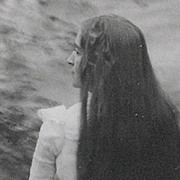 Pair of Old Photographs - Lady with Very Long Hair