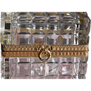 SALE French Crystal Box / Casket - Cristal Taille Main