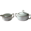 Porcelain Creamer and Sugar Bowl Set for Teas or Coffee - Bavarian