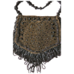 Vintage Purse w/ Glass Beads & Velvet for Chatelaine