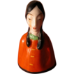 Porcelain Bell Asian Girl Hand Painted  Made in Japan - 1920's