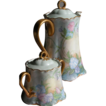 Porcelain Tea Pot w/ Matching Sugar Bowl- Hand Painted