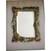 French Mirror - Champleve Enamel Inlay on Marble w/ Stand UP Beveled Mirror