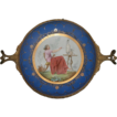 Porcelain Hand Painted Bronze Framed Plate c. 1840