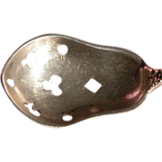 SALE Sterling Silver Spoon for Condiments w/ Repousse Roses & Flowers 1890's
