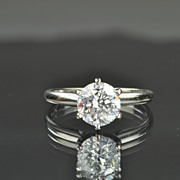 SALE 1.40 Carat Transitional Cut Diamond Solitaire