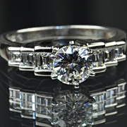 SALE 1.65 Carat Diamond Engagement Ring / 1.01 Center / EGL Certified