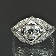 SALE 1.82 Old European Cut Diamond Ring / 1.14 Center / EGL Certified