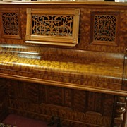 SALE Upright Victorian Piano-1880's Burled Walnut     SALE/OFFERS CONSIDERED