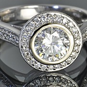 SALE 1.56 Carat Bezel Set Diamond Ring