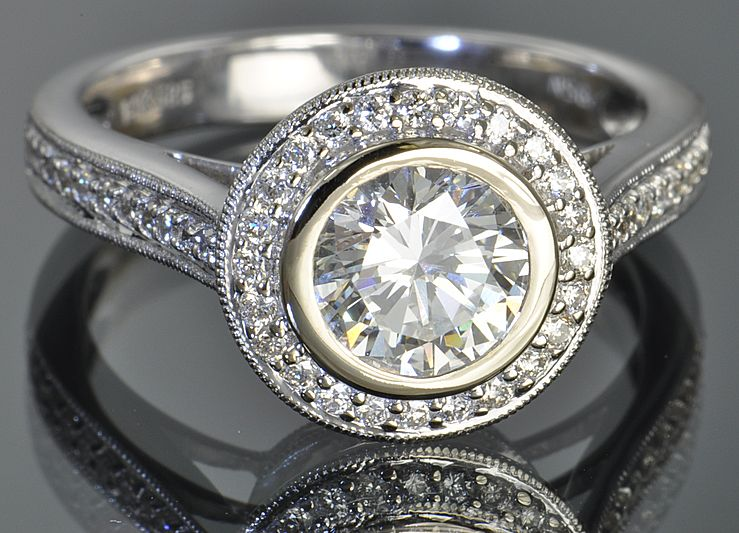 1.56 Carat Bezel Set Diamond Ring