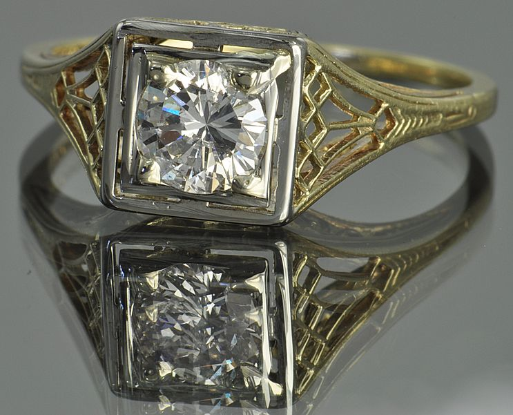 .50 Carat Vintage Diamond Wedding Ring