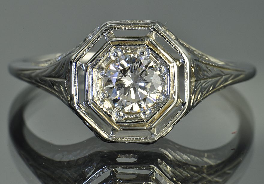 .50 Edwardian Style Diamond Ring