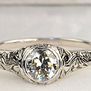 SALE .75 Carat Edwardian Style Diamond Ring