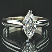 SALE .73 Carat Marquise Diamond Solitaire / GIA Certified