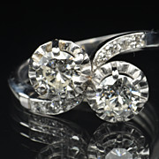 1.50 Carat Twin Diamond Wedding Ring