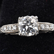 SALE .65 Old European Cut Diamond Solitaire / EGL Certified