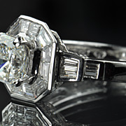 SALE 2.05 Carat Square Cut Diamond Engagement Ring / EGL Certified