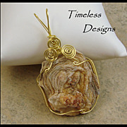 SOLD Soft Drusy Rosetta Agate Pendant Hand Wired