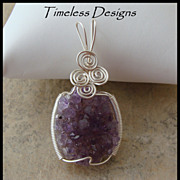 Beautiful Amethyst Crystal Pendant Hand Wire Wrapped