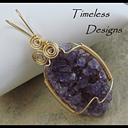 Hand Wire Wrapped Amethyst Crystal Pendant