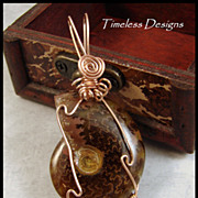 REDUCED Beautiful Polished Ammonite Fossil Pendant Hand Wire Wrapped