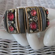 SALE Pink Rhinestone Panel Expansion Bracelet