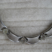 Gorgeous Silvertone Traifari Necklace Collar