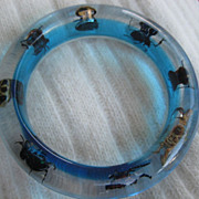 Lucite Beetle Bug Bracelet
