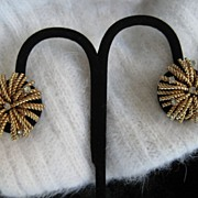 Bergere Starburst Rhinestone Earrings