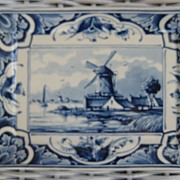 Ceramic Holland Delft Windmill Trinket Tray