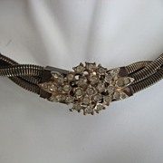 Unique Twisted Collar Rhinestone Necklace