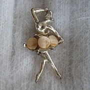 Petite Ballerina Celluloid Brooch Pin