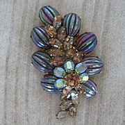 SALE Mesmerizing Large Vendome Iridescent Rhinestone Brooch