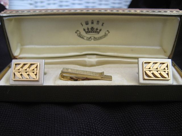 Swank Tie Tack Cuff Links Original Box