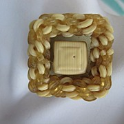 SALE Fab Celluloid Noodle Button