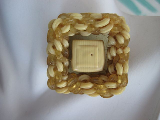 Fab Celluloid Noodle Button