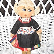 Handmade Cloth Felt Dutch Girl