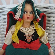 Italian Peasant Handmade Cloth Doll