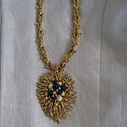 Spectacular Panetta Brooch Pendant Necklace