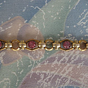 Swarovski Pink Crystal Goldtone Bracelet