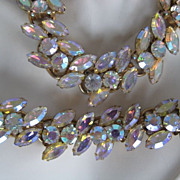 Ravishing Elster Delizza/Juliana Iridescent Bracelet Necklace Demi Parure