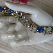 SALE Delizza Elster Juliana Royal Blue Rhinestone Bracelet